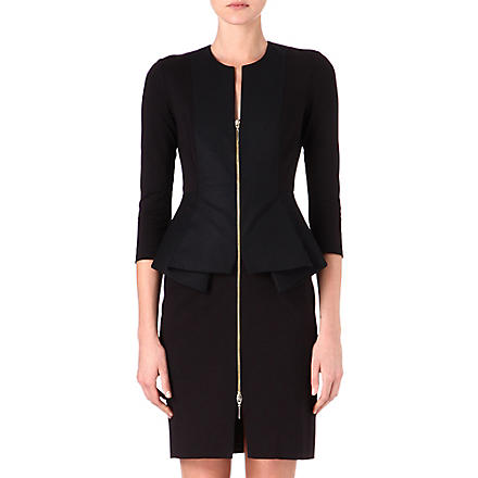 TED BAKER Jamtye structured zip dress (Black