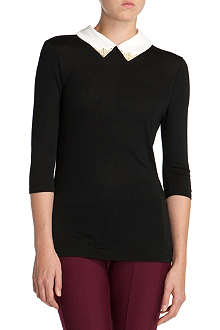 TED BAKER Kimmey embellished-collar top