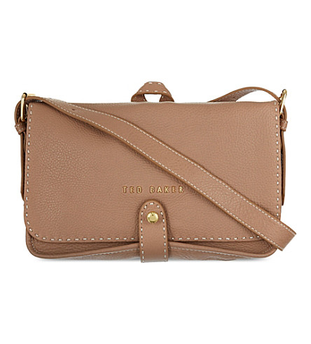 TED BAKER Markun stab stitch bag (Natural
