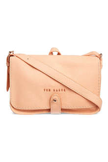 TED BAKER Stab stitch leather cross-body bag
