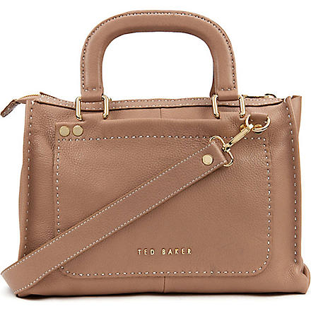 TED BAKER Hickory leather tote bag (Natural