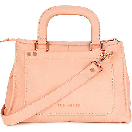 TED BAKER Hickory leather tote bag (Orange