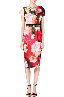 TED BAKER Roses on Canvas printed dress