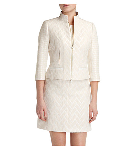TED BAKER Idelle flared peplum jacket (Cream