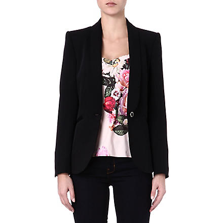 TED BAKER Eglan crepe suit jacket (Black