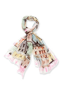 TED BAKER Regency Houses printed scarf