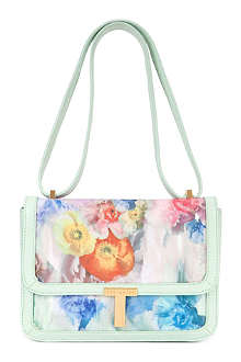 TED BAKER Freiya sugar sweetpea floral across body bag