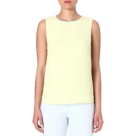 TED BAKER Alys contrast fold top (Lemon