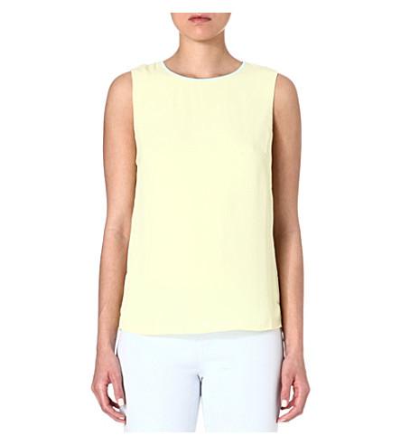 TED BAKER Alys contrast fold top (Lemon
