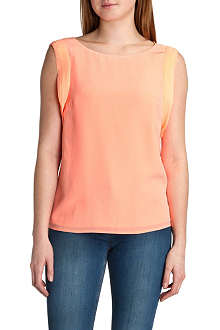 TED BAKER Ruffled-sleeve silk top