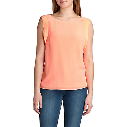 TED BAKER Myrine ruffle sleeve top (Orange