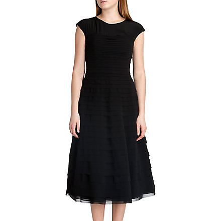 TED BAKER Sashea sculpted ballerina skirt dress (Black