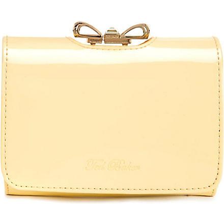 TED BAKER Temme crystal bow purse (Lemon