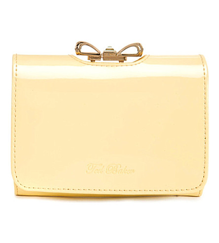 TED BAKER Temme crystal bow purse (Lemon