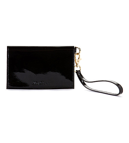 TED BAKER Elorna patent leather phone and card case (Black