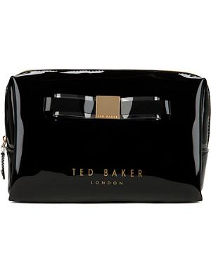TED BAKER Maisa large bow wash bag