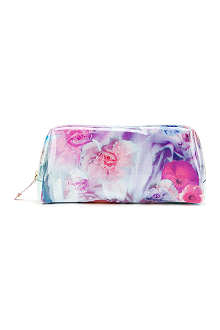 TED BAKER Lewi large floral printed washbag