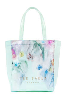 TED BAKER Molewod floral printed shopper with umbrella