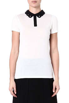 TED BAKER Mistey cut out collar top