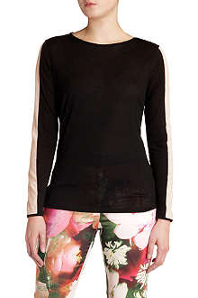 TED BAKER Gwlyn contrast-panel top