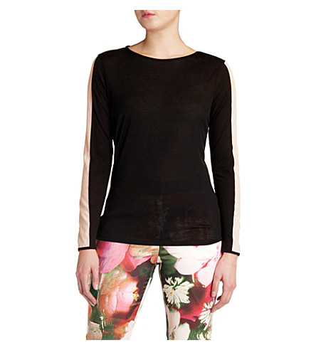 TED BAKER Gwlyn crew neck top (Black