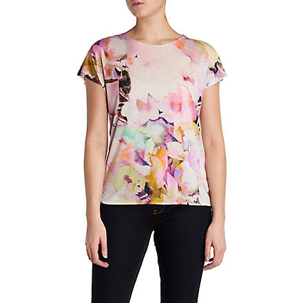 TED BAKER Misfiss electric daydream print tee (Lemon