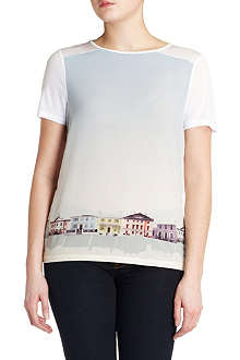 TED BAKER Hadria graphic hem top