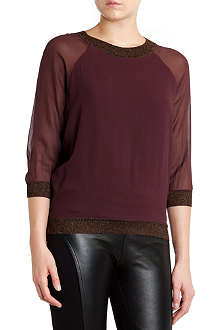 TED BAKER Metallic-trim top
