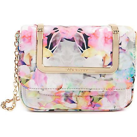 TED BAKER Electra printed clutch bag (Lemon