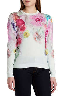 TED BAKER Adiele sugar sweet print sweater
