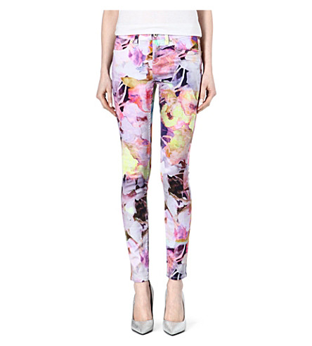TED BAKER Bloem electric daydream printed jeans (Lemon