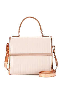 TED BAKER Patent quilted cross-body bag