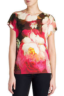 TED BAKER Chofa rose on canvas printed top