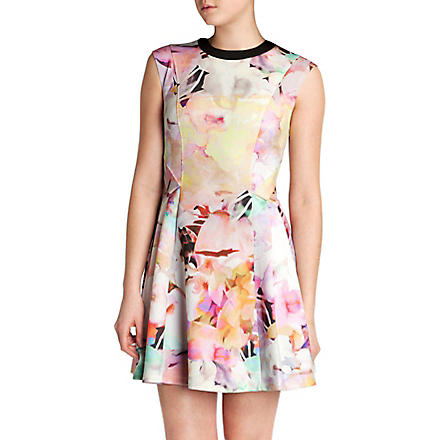 TED BAKER Jeneyy electric day dream dress (Lemon