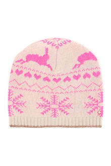 TED BAKER Fair Isle knitted hat