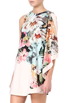 TED BAKER Tangled floral-print tunic dress