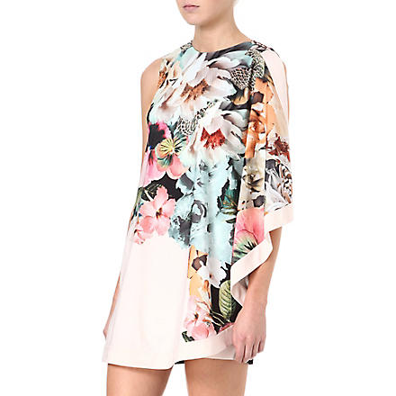 TED BAKER Tangled floral-print tunic dress (Ivory