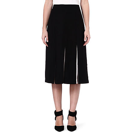 TED BAKER Celect pleated midi skirt (Black