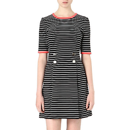 TED BAKER Striped dress (Black