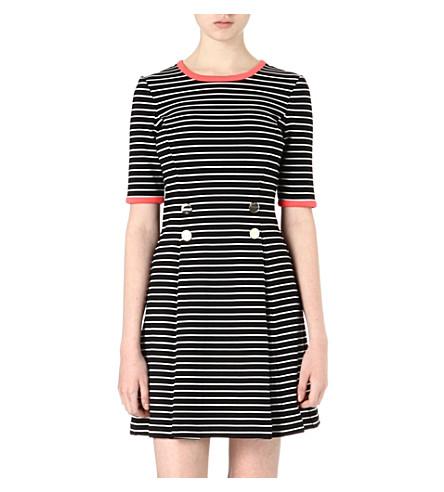 TED BAKER Striped dress (Black