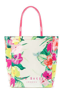 TED BAKER Filicon floral-print shopper bag