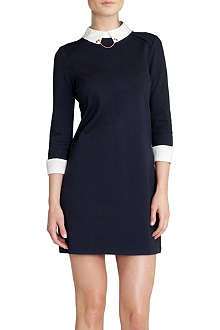 TED BAKER Contrast-collar dress