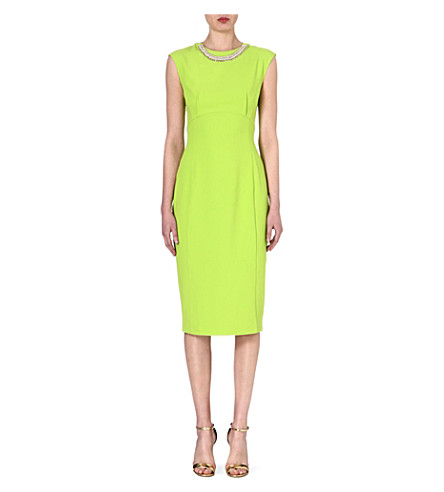 TED BAKER Erolla embellished dress (Olive