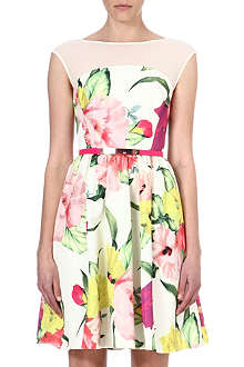 TED BAKER Floral-print crepe dress