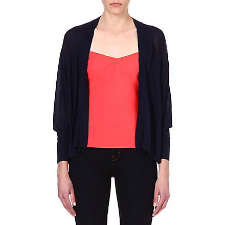 TED BAKER Knitted open-front cardigan (Navy