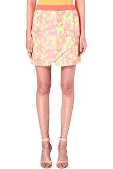 TED BAKER Keleche jacquard wrap skirt