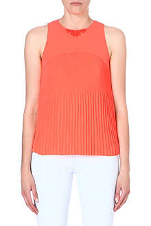 TED BAKER Coral pleated top