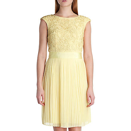 TED BAKER Aliana lace dress (Lemon