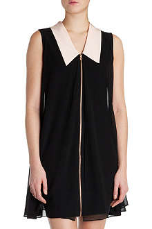 TED BAKER Collar-detail tunic dress