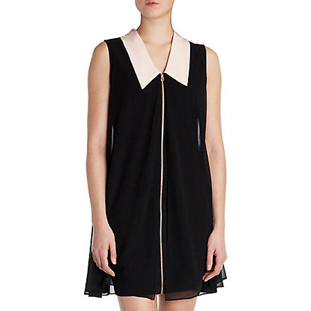 TED BAKER Belloh collar detail tunic dress (Black